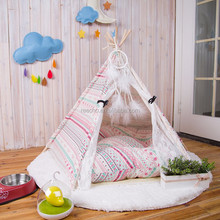 Cotton Canvas Wooden Pole Indoor Dog Tents