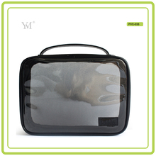 wholesale bag organizer clear PVC and mesh cosmetic makeup toiletry bag travel