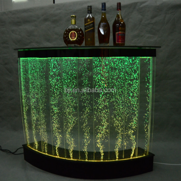 modern water led acrylic bubble home mini bar counter design for sale