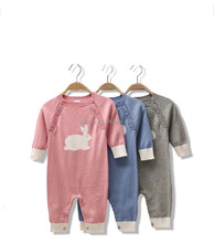 100% Cotton Baby Sweater Romper