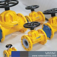 Cast Steel or Cast Iron Saunders Weir Type Diaphragm Valve