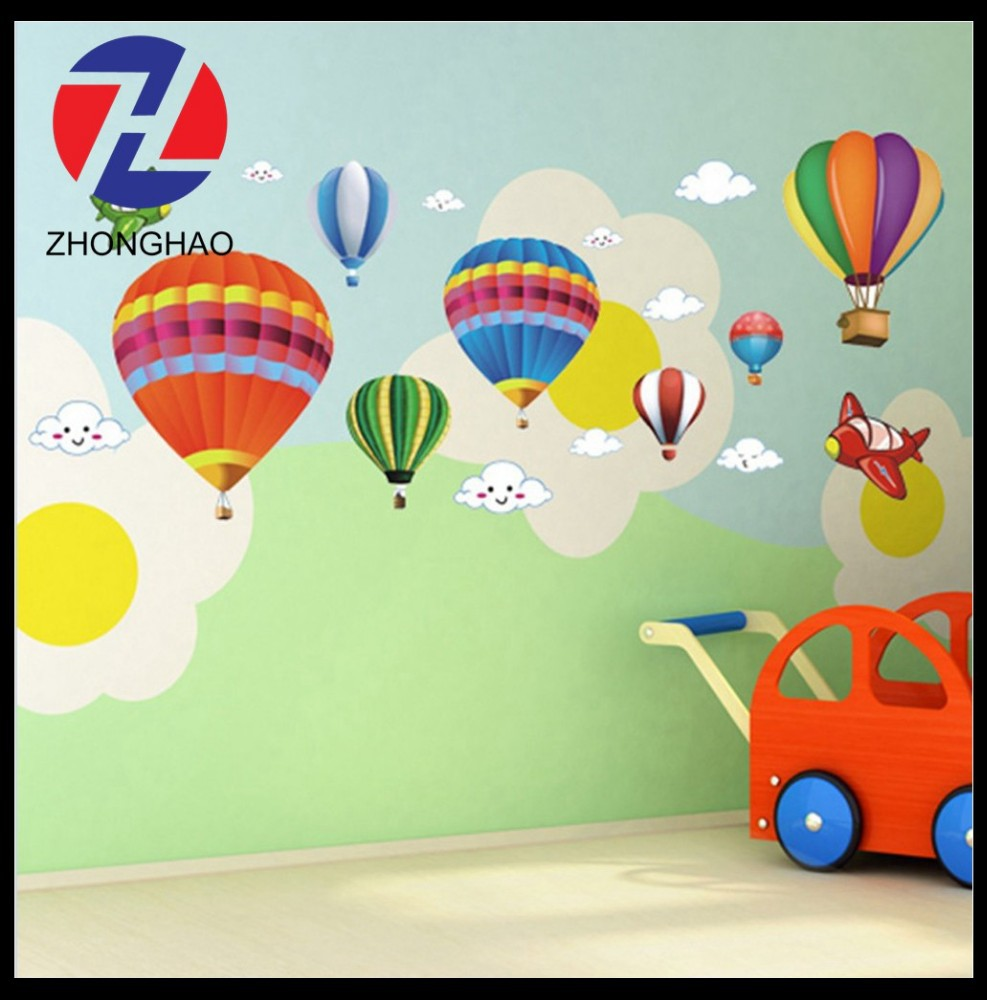 New Arrived custom Removable Wallpaper balloon design Wall Stickers For Kids Rooms Decal