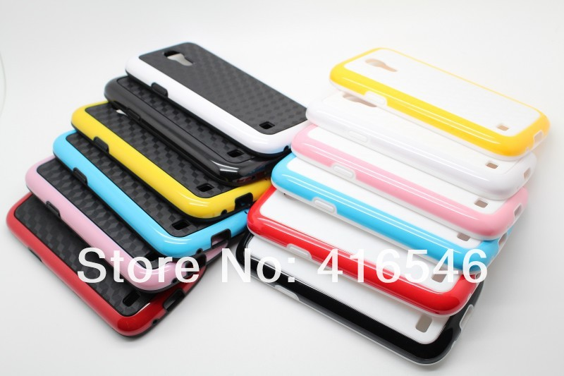 Newest Double Color TPU PC Hard Case for Samsung Galaxy S4 mini i9190 Case
