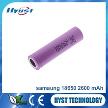 SAMSUNG 18650 battery 2600mAh li-ion rechargeable batteries 3.7V used in flashlight lamp torch