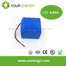 rechargeable emergency light batteries 2.3ah lithium ion battery 12v power supply battery backup