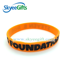 Debossed imprinting free sample silicone wristband ink filled silicone wristband