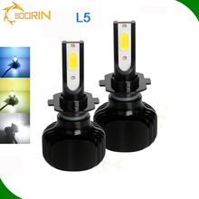 2018 newest automotive model L5 LED car light and long life 50000hrs+ h7 led car headlight