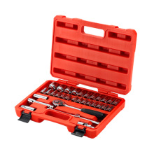 Auto mechanic tools 32pcs 12.5MM Metal 6 -PT Socket Set screwdriver