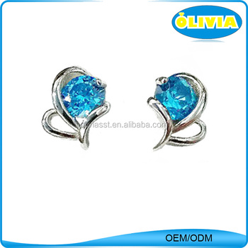 Olivia New Products Earrings Guangdong Silver Tanishq Diamond Earrings Women