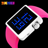 skmei new cheap light up silicone digital bracelet alloy watches wrist watch