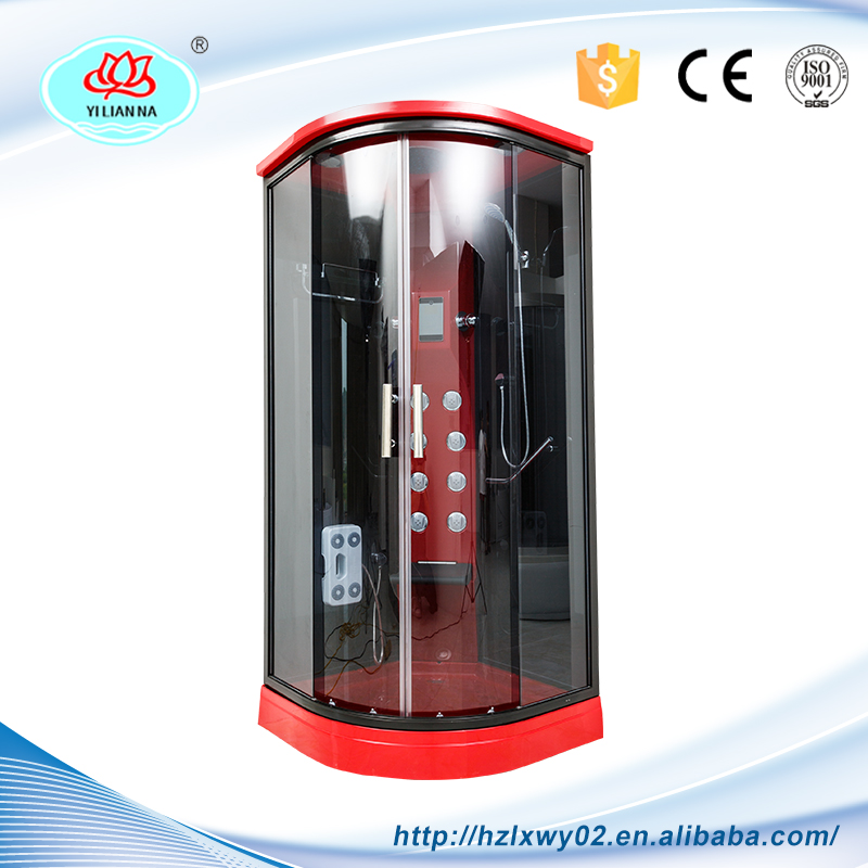 Latest Design Digitizer Glass Panel Red Touch Screen Bathroom Shower Room