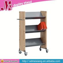 wooden cake display case, MX6801 wooden scarf display rack