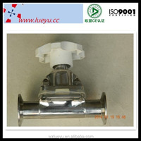 Sanitary butt welding pipe fitting diaphragm valve