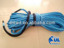 GZDL 4WD 14mm*30m electric winch rope 4x4 auto parts synthetic winch rope synthetic 4x4