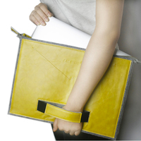 Online Shop China Leather wool felt sleeve laptop bag For mac book