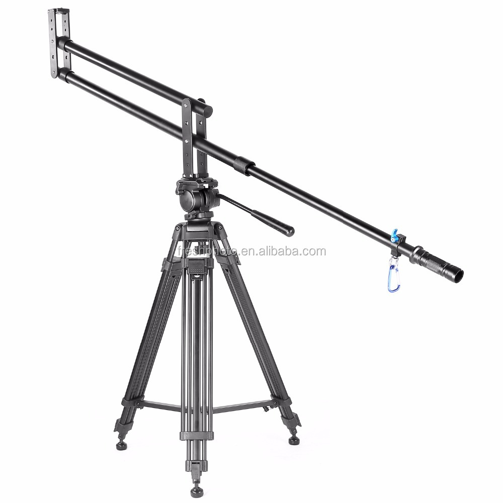 factory direct professional 2meter high quality aluminum foldable jimmy jib camera crane for sale for all DSLR cameras
