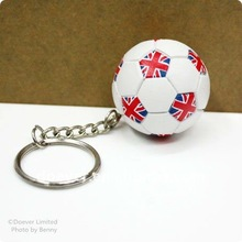 2012 London Souvenirs -Soccer Key Chains with England Flag Imprinted