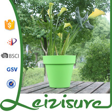 Cloured plastic plant pots,decorative plastic flowe pot indoor or outdoor elegant flower pot