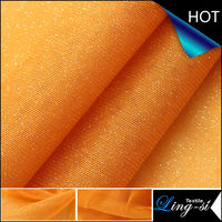 Polyester Tulle Metallic Fabric for Bridal Dress