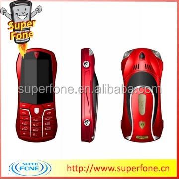 F1 1.8 inch Electronic Torch support whatsapp dual sim card car shape mobile phone