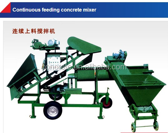 continuous filling concrete mixer heavy machinery factory supplier