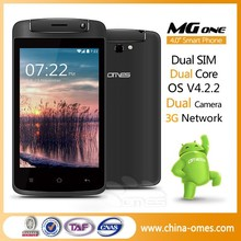 Muti Language Support MG1 4 inch 3G WCDMA dual core android cheap smartphone 4""