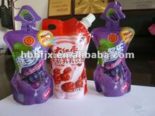 formed or shaped Urucu juice and milk premade pouch/tubes filling and sealing packaging machine