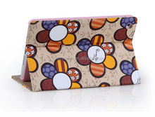 2014 sun flower new design leather case for ipad mini