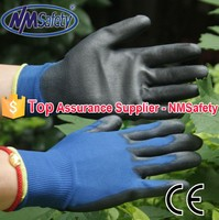 NMSAFETY pu coated safe electrical rubber hand gloves