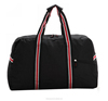 Black 600D simple duffel bag with embroidery pp webbing handle