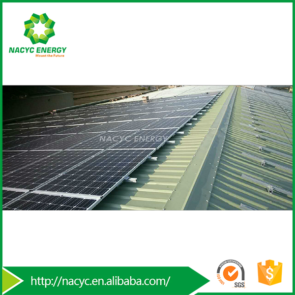 Residential on grid 5KW roof solar panel mounting system for home use pitch metal roof solar module rackings