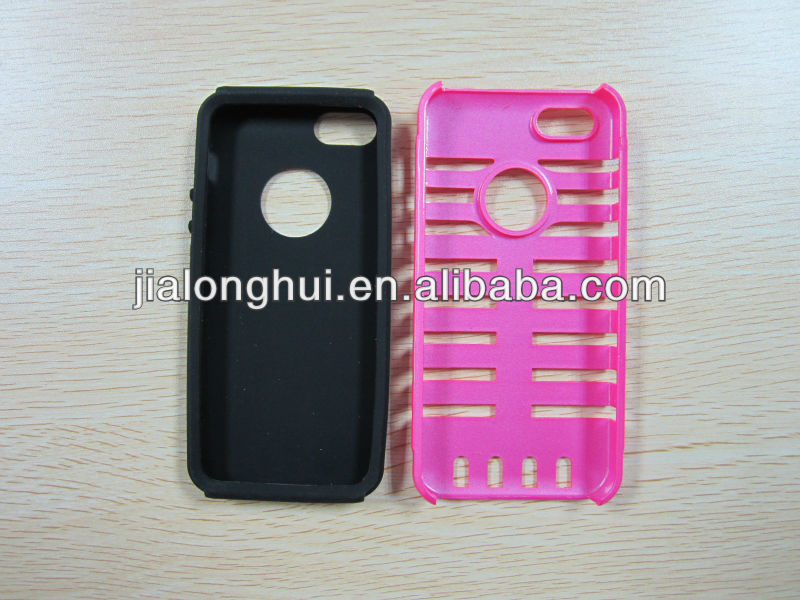 2013 New style Musubo Retro plastic+silicon microphone hard case for iphone5