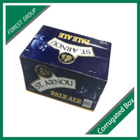 CUSTOM PRINTING CORRUGATED CARTON BOX WINE BOX WITH DIVIDERS
