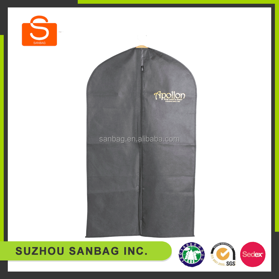 Breathable nonwoven wedding dress cheap garment bags wholesale