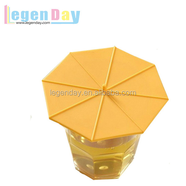 Umbrella Shape Silicone Mug Cover for Glasses Bottle