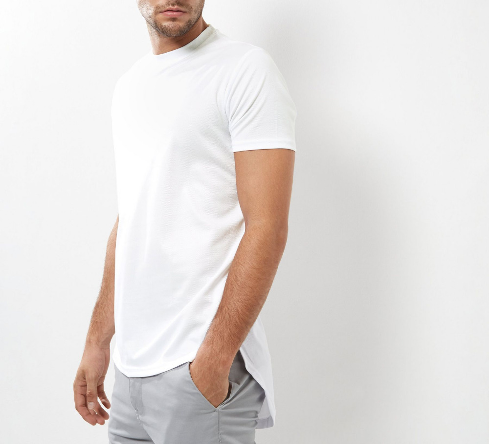 stylish mens white cotton long tail tee shirt t shirts for sale