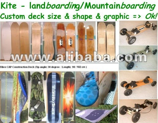 Layers Fiber glass composited deck of MountainBoard; Mountain Board; Longboard; kickboard