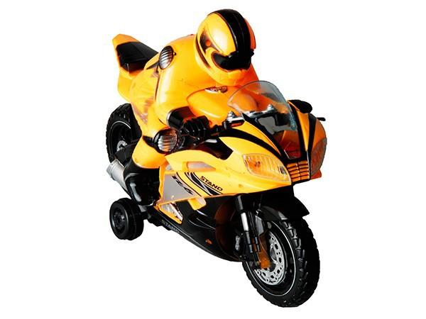 Toy motorcycle with light and sound