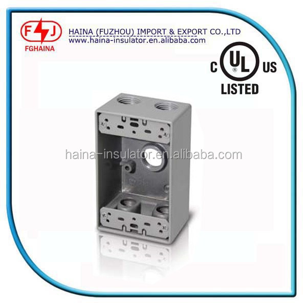 Aluminum box/electrical outlet box size/waterproof electrical junction boxes