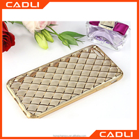 2016 Wholesale TPU Bag Cover Electroplating Diamond Texture Luxury TPU Phone Case Cover for iPhone 5 5s