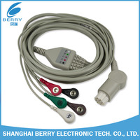 ecg cable and leadwires ,schiller ecg cable