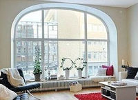 french aluminum arch shaped top windows