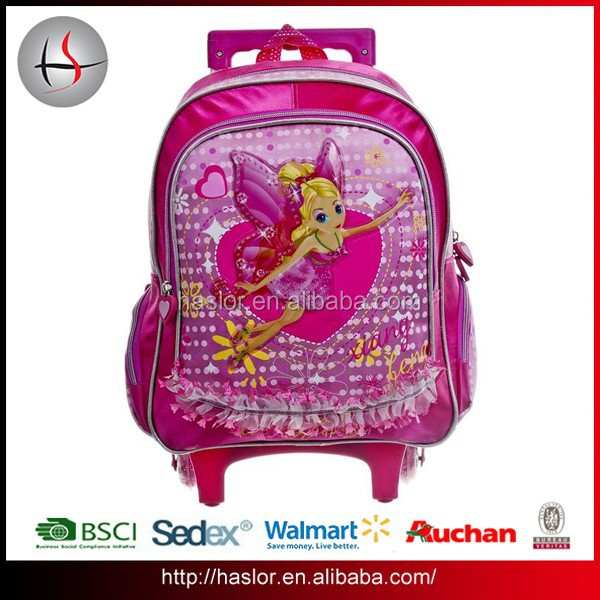 The Flower Child Kids Trolley Bag School Backpack For Primary School