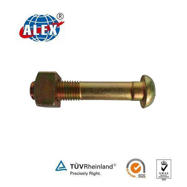 High tensile railway sleeper bolts and nuts and washers