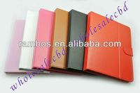 Leather magnetic wallet notebook case for new iPad 3 2