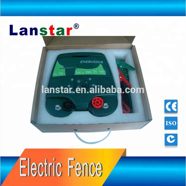High voltage heat electric fence energizer low consumption 12V battery support for livestock