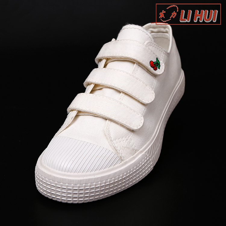 white women low price printed casual bulk rubber canvas shoes