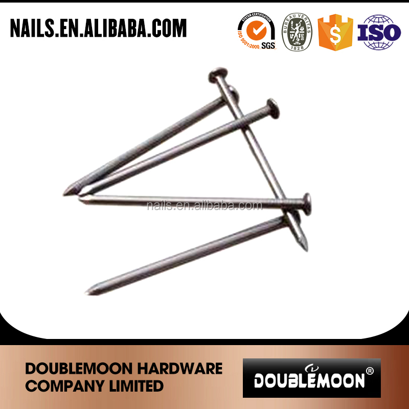 Polished common nail for construction