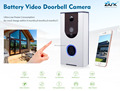Cable free easy install battery door camera wireless smart doorbell with camera