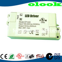 24w 12v waterproof electronic led driver, IP67